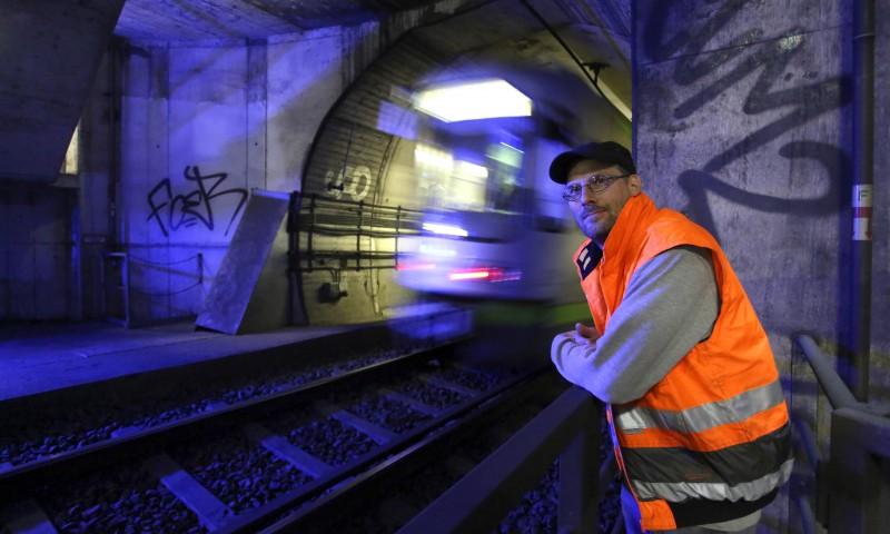 Auf Kontrollgang im Tunnel