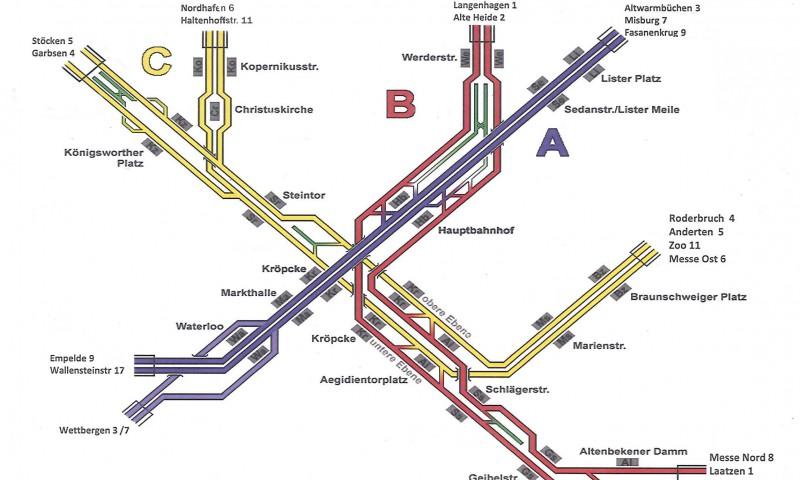üstra'sche Farbenlehre: So bunt sind Hannovers Strecken