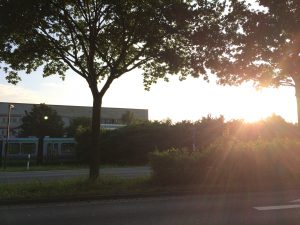 Sonnenaufgang am Endpunkt Langenhagen