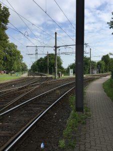 Rethen/Nord: Links fährt die Linie 2, rechts die Linie 1.